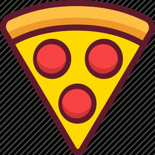 cartoon, fast food, food, pepperoni, pizza icon
