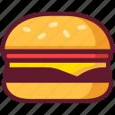 burger, cartoon, cheeseburger, fast food, food, hamburger icon