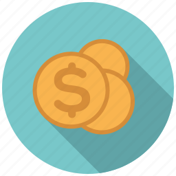 cash, coins, commerce, money, payment, retail, trade icon