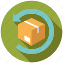 commerce, parcel, replacement, retail, returns, shopping, trade icon