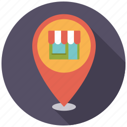 direction, location, navigation, retail, shop, shopping, store locator icon