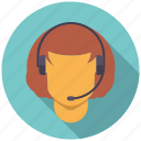 call center agent, commerce, headset, retail, service, shopping, trade icon