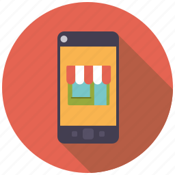 ecommerce, mobile phone, retail, shop, shopping, store, trade icon