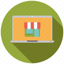 ecommerce, laptop, online, retail, shop, shopping, trade icon