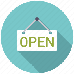 commerce, open, retail, shop, shopping, sign, trade icon