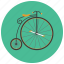 bicycle, retro, transportation, vehicle, vintage icon