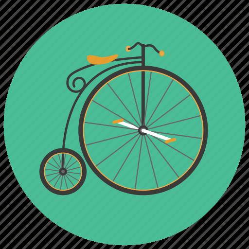 bicycle, retro, transportation, vehicle, vintage icon