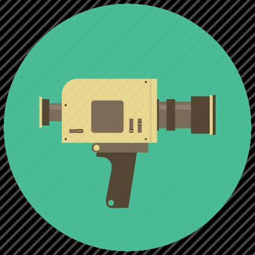 camera, retro, video, vintage icon