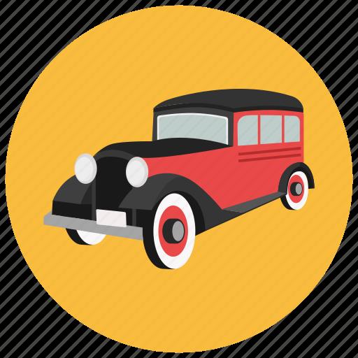 car, retro, transportation, vehicle, vintage icon