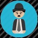 avatar, chaplin, charlie, retro, vintage icon