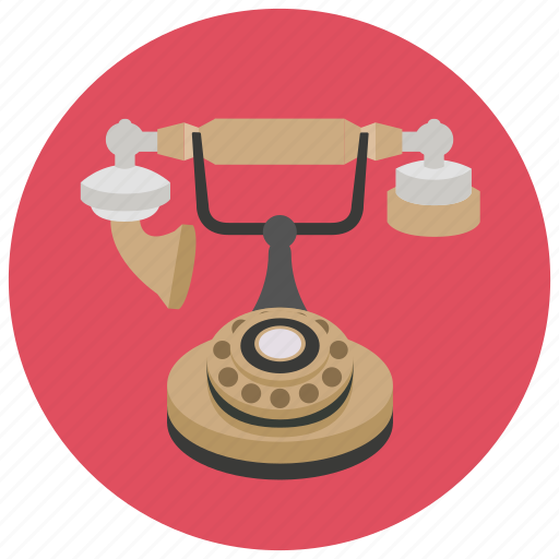 house, phone, retro, vintage icon