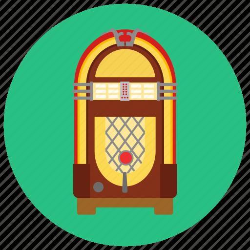 jukebox, music, player, retro icon