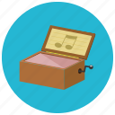 box, vintage, music, retro
