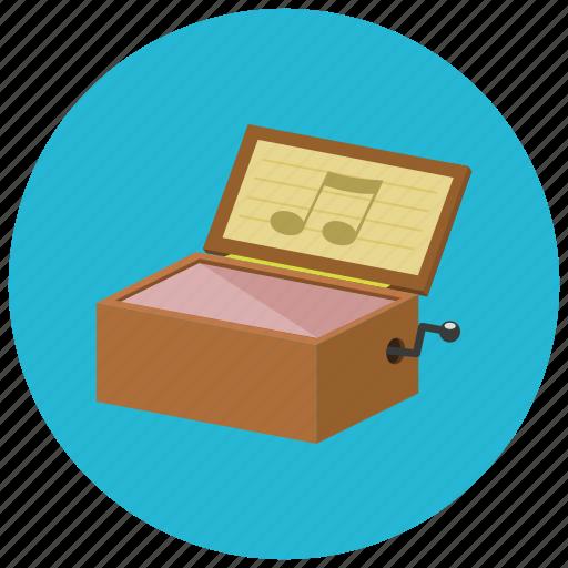 box, music, retro, vintage icon