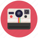camera, polyroid, retro, vintage icon