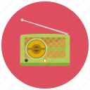 audio, radio, retro, vintage icon