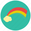 cloud, color, rainbow, weather icon