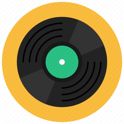 music, record, retro, vintage icon