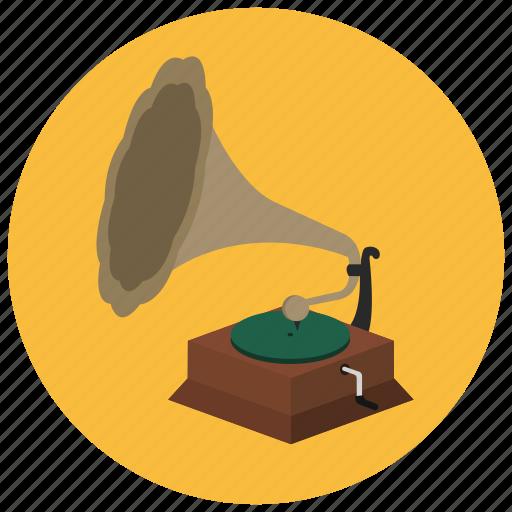 music, player, record, retro icon