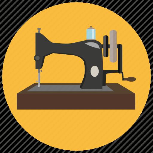 machine, retro, sewing, vintage icon