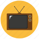 retro, television, tv, vintage icon