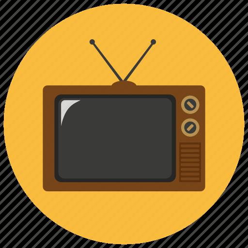 retro, television, tv, vintage icon