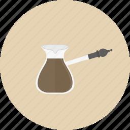 barista, brew, caffeine, coffee, drink, espresso, turkish icon