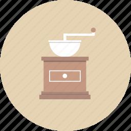 barista, brew, caffeine, coffee, coffee grinder, drink, espresso icon