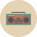 audio, boombox, entertainment, equipment, gadget, radio, retro icon
