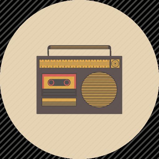 audio, entertainment, equipment, gadget, music, radio, retro icon
