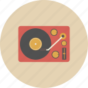 dj, entertainment, equipment, gadget, music, retro, turntable icon