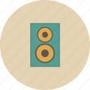 entertainment, equipment, gadget, music, retro, song, subwoofer icon