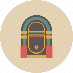 audio, entertainment, equipment, gadget, jukebox, music, retro icon