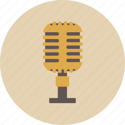 entertainment, equipment, gadget, microphone, retro, sing, song icon