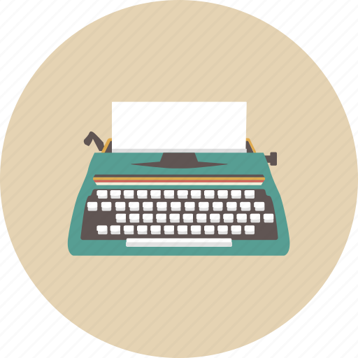entertainment, equipment, gadget, paper, retro, type, typewriter icon