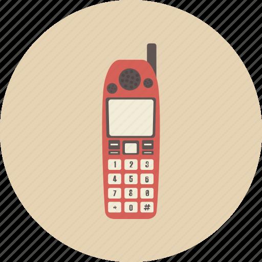communication, entertainment, gadget, mobile, phone, retro, telephone icon