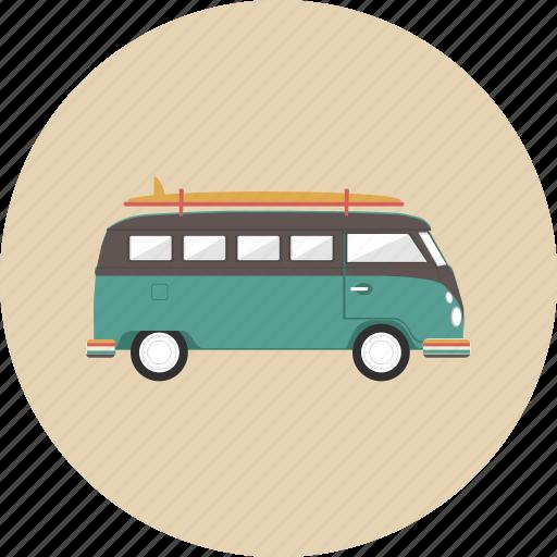 car, entertainment, gadget, retro, transportation, travel, van icon