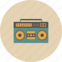 entertainment, gadget, music, radio, retro, song, sound icon