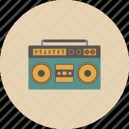 entertainment, gadget, music, radio, retro, song, sound icon
