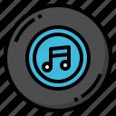 audio, cd, music, retro, song icon