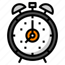 alarm, clock, retro, ring, time icon