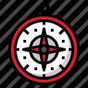 compass, map, navigation, retro, travel icon