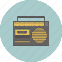gadget, hipster, lifestyle, radio, retro, song, sound icon