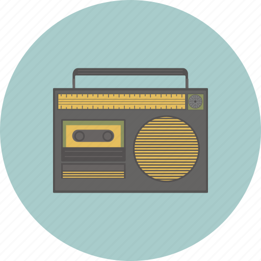 gadget, hipster, lifestyle, radio, retro, song, sound icon