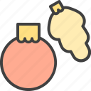 ball, bauble, christmas decorations, cone icon