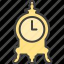 antique clock, clock, vintage icon