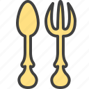 cutlery, eat, fork, spoon, utensils