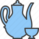 cup, tea serving, tea set, teapot icon