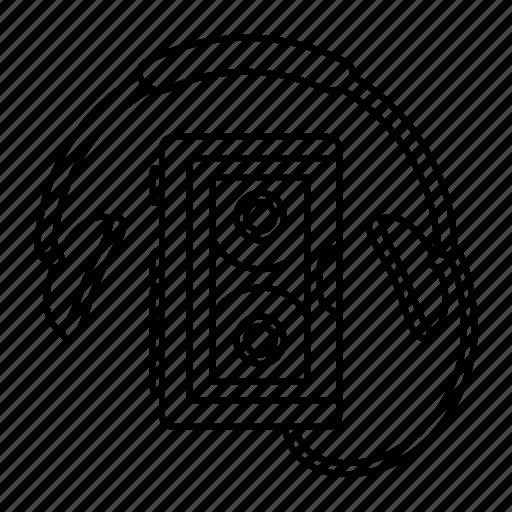 outline, retro, tech, ultra, walkman icon icon