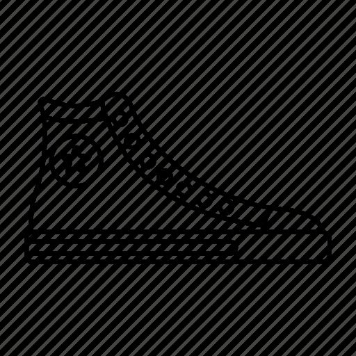 boot, outline, retro, walk, wear icon